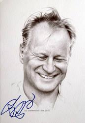 Stellan Skarsgard - signed portrait, ballpoint pen by signedportraits