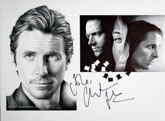 Christian Bale - signedportraits (ballpoint pen) by signedportraits