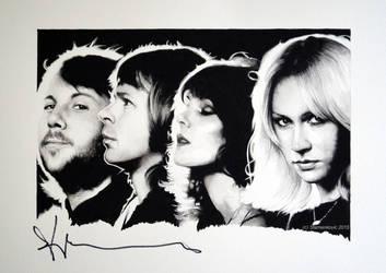 ABBA Benny Andersson - signedportraits (Gouache) by signedportraits