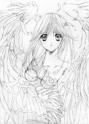 Yuina Hatori - sketch by Fighter-chan