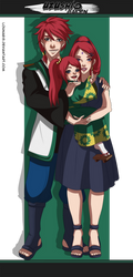 Uzushio Gaiden | Her little family by Lounabis