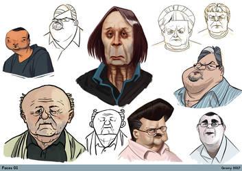 Various Heads by RichardVatinel
