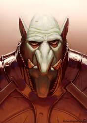 Goblin portrait 02 by RichardVatinel