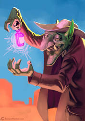 Goblin portrait 04 by RichardVatinel