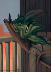 Goblin portrait 07 by RichardVatinel