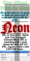 Font Effects With the Gimp by ksouth