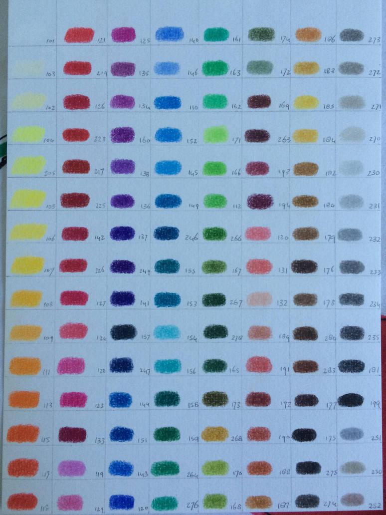 Faber Castell Polychromos Colour Chart By Larissaboef On Deviantart