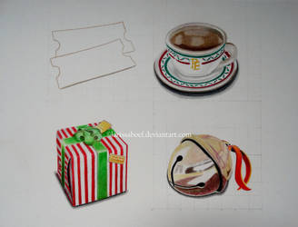 Practicing six small objects by LarissaBoef