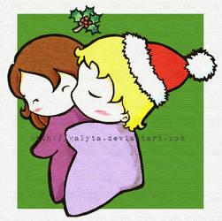 Christmas kiss by Galyta