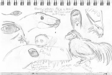 Sketches4 by femaleceratosaurus