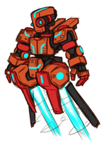 Hover mech concept thingy by FontesMakua