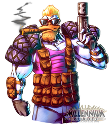 Duck Nukem by FontesMakua