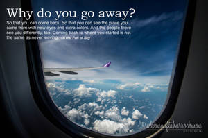WHY DO YOU GO AWAY? by meefro683