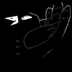 like an really edgy crow -Moon by AkiCreation