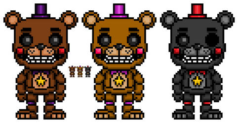 Rockstar Freddy and Lefty POP! by WitheredBBfilms