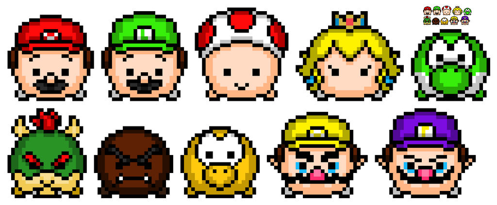 Mario Tsum Tsums. by WitheredBBfilms