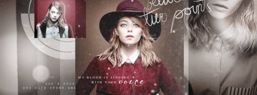Emma Stone Facebook Cover by Monster-Rey