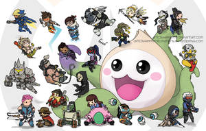 Pachimari and Friends - Overwatch by SweetEmii