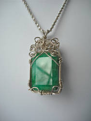 Wire-Worked Emerald by Mines-Eye