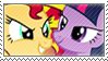 TwilightSparkle X SunsetShimmer stamp by Stamp-Master