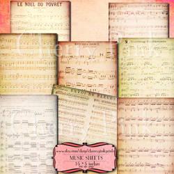 SHEET MUSIC Digital Collage Sheet by miabumbag