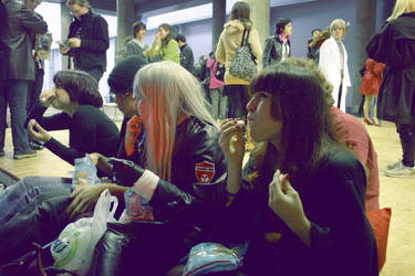 Cosplayers playin chubby bunny by couvexx