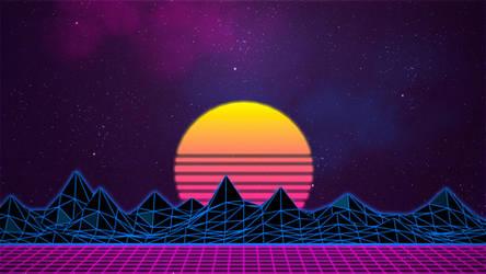 Synthwave/Retrowave - Neon 80s - Background by Rafael-De-Jongh