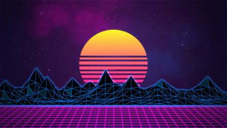Retrowave Neon 80's Background - 4K by Rafael-De-Jongh
