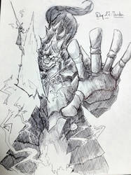 Inktober 27 : Thunder by Yian-garuga-anonyme