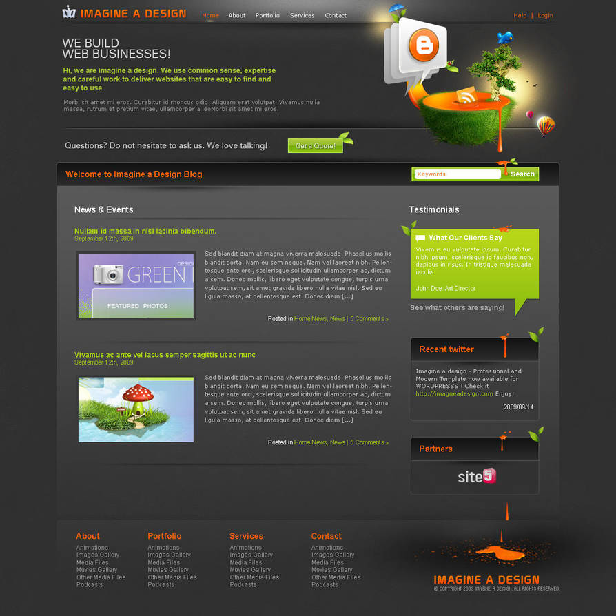 Wordpress  Blog -Beta- by imagineadesign