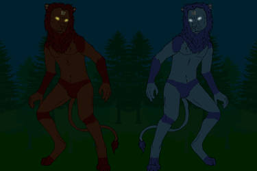 Brothers roaming in the night by liongirl2289