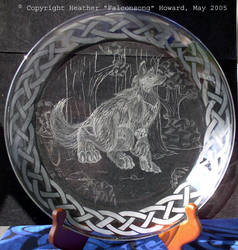 Werewolf Plate by Falconsong