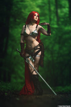 Red Sonja cosplay by Atai