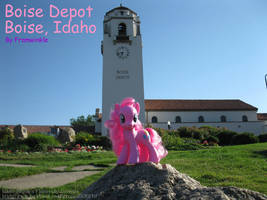 Pinkie Pie at the Boise Depot by Framwinkle