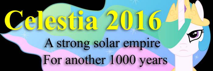 Celestia 2016 Bumper Sticker by Framwinkle