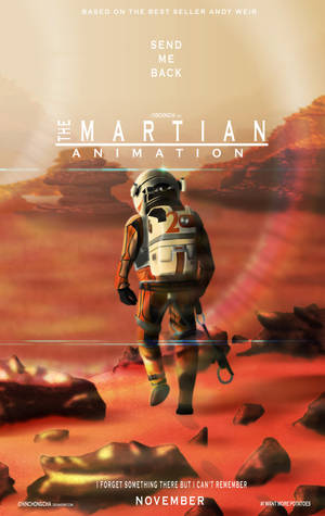 The Martian Animation Poster by chinchongcha