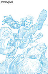 Angel 20 Cover pencils by GabrielRodriguez