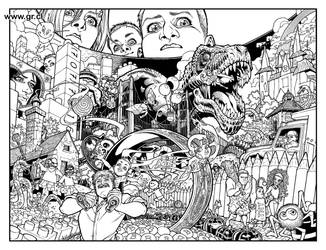Locke And Key 03 p 06-07 inks by GabrielRodriguez