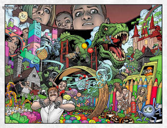 Locke And Key 03 p 06-07 color by GabrielRodriguez