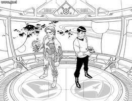 StarTrek Legion 1 Inks by GabrielRodriguez