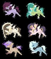 #13 Adoptables - Random Ponies[1/6 OPEN] by AdaKola