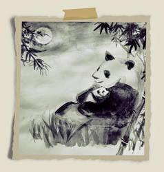 Pandas by miladyartist