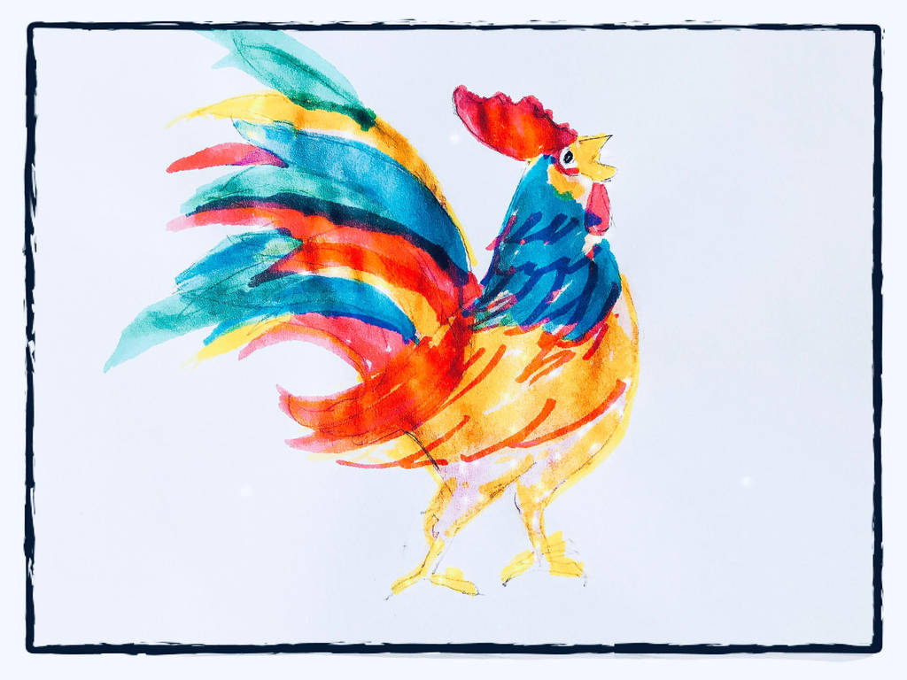 Rooster by miladyartist