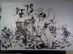 Xmen-Avengers battle it up by ukosmith