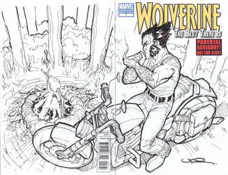Wolverine X-men sketch cover by ukosmith