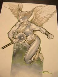 Hawkgirl by ukosmith