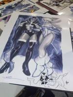 PowerGirl-Huntress remarque print by ukosmith