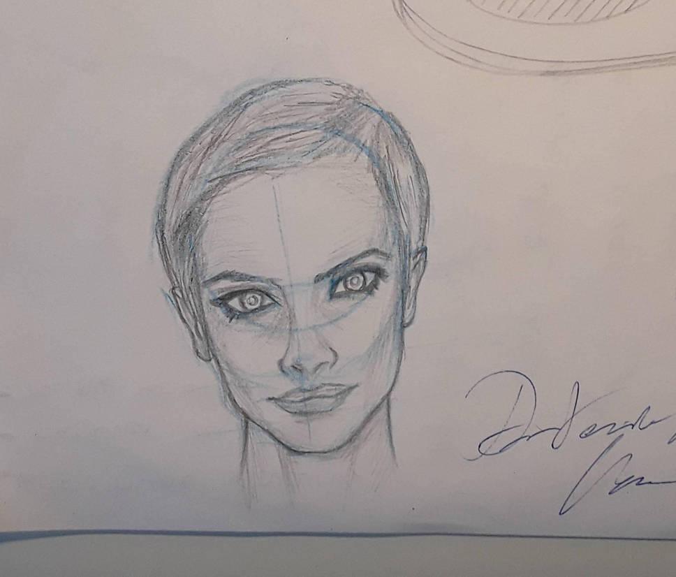 woman face by CJackJambu489
