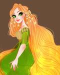 Concept Art Rapunzel + SPEEDPAINT by snownymphs