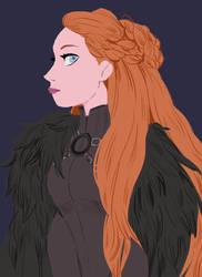 Lady Stark by snownymphs